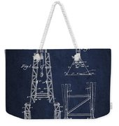 Well Drilling Apparatus Patent From 1960 - Navy Blue Weekender Tote Bag