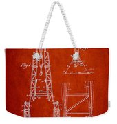 Well Drilling Apparatus Patent From 1960 - Red Weekender Tote Bag