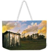 Old Well House And Golden Clouds Weekender Tote Bag