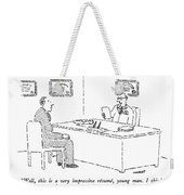 Well, This Is A Very Impressive Resume, Young Weekender Tote Bag