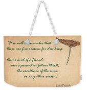 Well To Remember Weekender Tote Bag by Elaine Plesser
