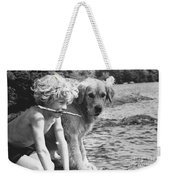 Well Trained Boy Weekender Tote Bag