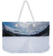 Well Used Winter Trail On Frozen Mountain Lake Weekender Tote Bag