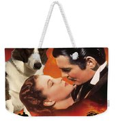 Welsh Corgi Cardigan Art Canvas Print - Gone With The Wind Movie Poster Weekender Tote Bag