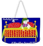 Welsh Snowman Bedtime  Weekender Tote Bag