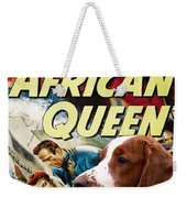 Welsh Springer Spaniel Art Canvas Print - The African Queen Movie Poster Weekender Tote Bag