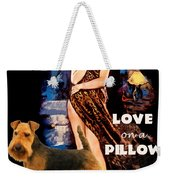 Welsh Terrier Art Canvas Print - Love On A Pillow Movie Poster Weekender Tote Bag