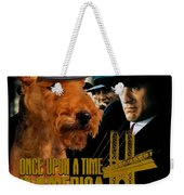 Welsh Terrier Art Canvas Print - Once Upon A Time In America Movie Poster Weekender Tote Bag