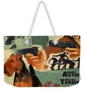 Welsh Terrier Art Canvas Print - The Maltese Falcon Movie Poster Weekender Tote Bag