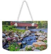 West Cornwall Covered Bridge Summer Weekender Tote Bag