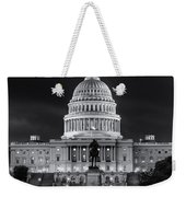 West Front Of The National Capitol Bw Weekender Tote Bag