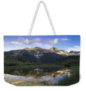 West Needle Mountains Reflected In  Pond Weekender Tote Bag