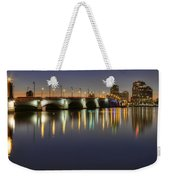 West Palm Beach At Night Weekender Tote Bag