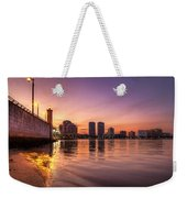 West Palm Beach Skyline At Dusk Weekender Tote Bag