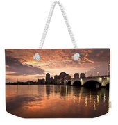 West Palm Beach Skyline At Sunset Weekender Tote Bag