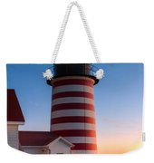 West Quoddy Head Light At Dawn I Weekender Tote Bag