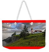 West Quoddy Head Lighthouse Panorama Weekender Tote Bag by Marty Saccone