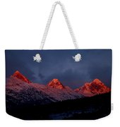 West Side Teton Sunset Weekender Tote Bag