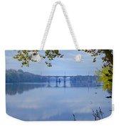 West Trenton Railroad Bridge Weekender Tote Bag by Bill Cannon