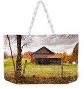 West Virginia Barn In Fall Weekender Tote Bag