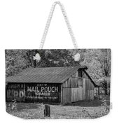 West Virginia Barn Monochrome Weekender Tote Bag