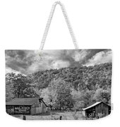 West Virginia Barns Monochrome Weekender Tote Bag