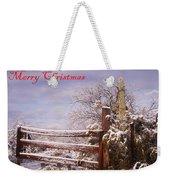 Western Christmas Weekender Tote Bag