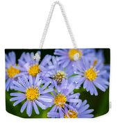 Western Daisies Asters Glacier National Park Weekender Tote Bag