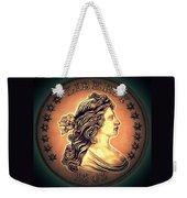 Western Draped Bust Liberty Dollar Weekender Tote Bag