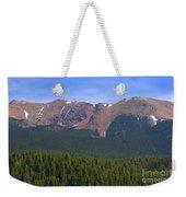 Western Face Pikes Peak Weekender Tote Bag