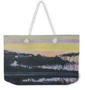 Western Lake Sunrise Weekender Tote Bag