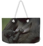 Western Lowland Gorilla Nursing Infant Weekender Tote Bag