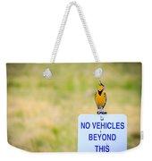 Western Meadowlark Singing Weekender Tote Bag