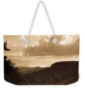 Western Mountain Scene In Sepia Weekender Tote Bag