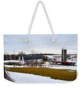 Western New York Farm As An Oil Painting Weekender Tote Bag