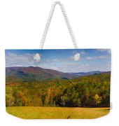 Western North Carolina Horses And Mountains Panorama Weekender Tote Bag