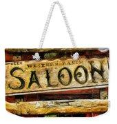 Western Saloon Sign - Drawing Weekender Tote Bag