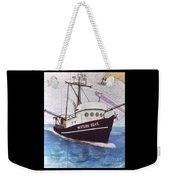 Western Seas Trawl Fishing Boat Nautical Chart Art Weekender Tote Bag