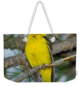 Western Tanager Singing Weekender Tote Bag