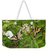 Western Tiger Swallowtail Butterflies Weekender Tote Bag