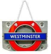 Westminster Underground Logo Weekender Tote Bag