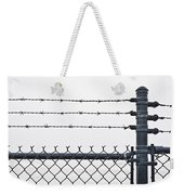 Wet Barbed Wire Fence In Heavy Fog E69 Weekender Tote Bag
