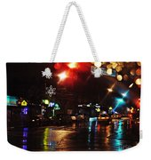 Wet City Weekender Tote Bag