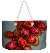 Wet Grapes Four Weekender Tote Bag by Bob Orsillo