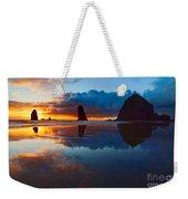 Wet Paint - Sunset In Oregon Weekender Tote Bag