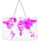 Wet Paint World Map Weekender Tote Bag