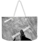 Wet Step Weekender Tote Bag