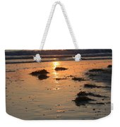 Wet Sunset Weekender Tote Bag