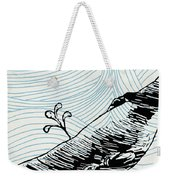 Whale On Wave Paper Weekender Tote Bag