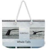 Whale Tails Weekender Tote Bag